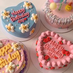 Pretty Birthday Cakes, Pretty Cakes, Creative Birthday Cakes, Simple Cake Designs, Simple Cakes, Picnic Cake, Pastel Cakes, Frog Cakes, Cute Desserts