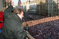 Vaclav Havel. Czech dissident and writer and leader. At 75.