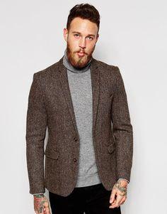 Image 1 - ASOS - Blazer cintré en tweed Harris