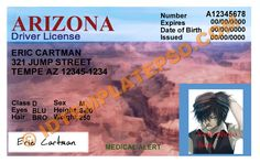 This is Arizona (USA State) Drivers License PSD (Photoshop) Template. On this PSD Template you can put any Name, Address, License No. DOB etc and make your personalized Driver License.  You can also print this Arizona (USA State) Drivers License from a professional plastic ID Card Printer and use as per your requirement.