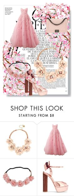 Pink Love by sabri-lujan on Polyvore featuring moda, Zuhair Murad, Sophia Webster, Chanel, Betsey Johnson and Whiteley