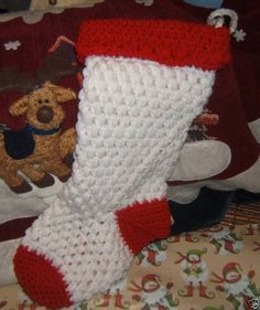 Heirloom Crochet Christmas Stocking Crochet Christmas Stocking Pattern, Holiday Crochet, Christmas Patterns, Christmas Projects, Christmas Tree, Crochet Ideas, Crochet Projects, Free Crochet, Xmas Stockings