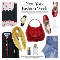 """What to Wear to NYFW"" by sproetje ❤ liked on Polyvore featuring Taya, Chinti and Parker, Gucci, Kooba, Remi & Reid, NYFW, PolkaDots, gucci and WearIt"