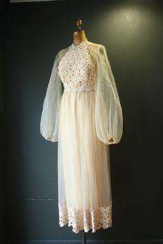 70s Boho Wedding Dress