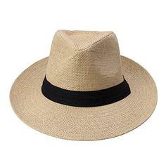 ELENKER™ Women Men Unisex Fedora Panama Summer Sun Beach Hat Beige ELENKER http://www.amazon.com/dp/B00XJ1GAB0/ref=cm_sw_r_pi_dp_4.dVwb0CQNYAA
