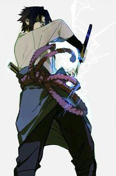 Sasuke uchiha chidori infused with his sword with curse mark stage 1 and sharingan defiantly Itachi brother Naruto Uzumaki, Anime Naruto, Sasunaru, Boruto, Sasuke And Itachi, Shikamaru, Sakura And Sasuke, Naruto Art, Gaara