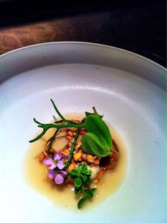 Sprouted grains and fermented wheat broth - oyster & ocean vegetables