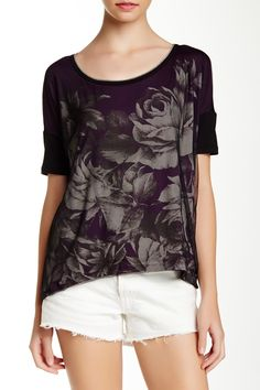 Edista | Chesey Hi-Lo Floral Front Tee | Nordstrom Rack #workclothes