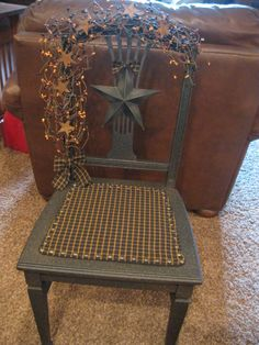 Primitive Grubby Chair https://www.facebook.com/pages/Primitive-Country-Treasures/100991083354848