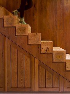 wood beam stairs