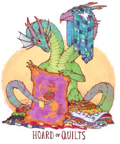 Unusual Dragon Hoards-Quilts-by Lauren Dawson