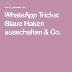 WhatsApp Tricks: Blaue Haken ausschalten & Co.