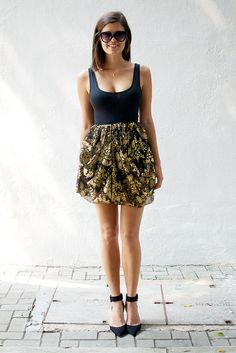 """DIY Dolce & Gabbana Inspired Skirt Tutorial - Cute & easy idea for a """"bubble"""" lace skirt...or use a stiffer fabric for the true """"bubble"""" look."""