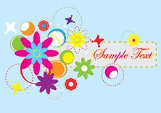 Abstract flowers banner design. A free vector graphic in Ai format for download