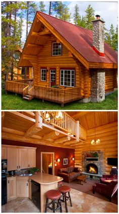 Small log cabin plans, small log homes, log cabin house plans, tiny log