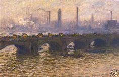 Claude Monet Waterloo Bridge Grey Print