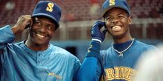 Father's Day has special significance in baseball. Like a beloved family heirloom, the game is passed down from generation to generation.  Through the years, sons of prominent ballplayers have carried on the family legacy by reaching the big leagues.   Often, these players hit home runs that connect the generations on a symbolic level. Ken Griffey Sr, Baseball Equipment, Mlb Players, Mlb Teams, Sports Figures, Seattle Mariners, Sports Photos, Cincinnati Reds, Good Good Father