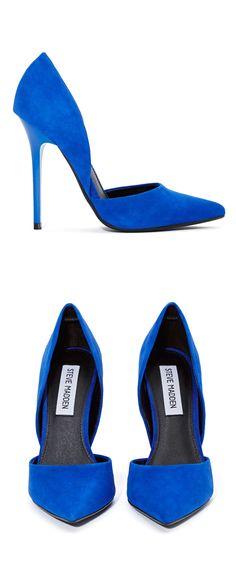 Electric blue pumps