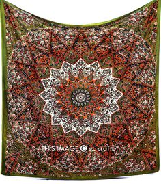 LARGE psychedelic tapestrystar mandala tapestry by eLcrafto