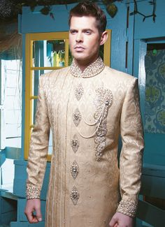 Cinderella's Prince, white and gold color scheme, decorated front, detailed buttons, Royal long suit