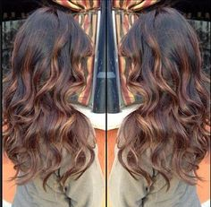 ... dark brown hair with peek a