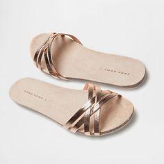 Pala bio tiras oro rosa Zara Home Cute Shoes Flats, Flat Lace Up Shoes, Shoes Flats Sandals, Pretty Shoes, Leather Sandals, Zara Home, Coral Sandals, Casual Chique, Beautiful Sandals