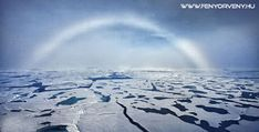 A white rainbow at the North Pole. Also called fog bow. The water droplets are smaller than the ones in a rainbow. Polo Norte, All Nature, Amazing Nature, Rainbow Photo, White Rainbow, Natural Phenomena, North Pole, Rainbows, Nature