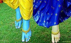 Radhakrishna lotus feet❣❤☘