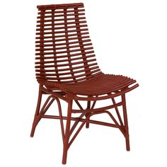 Carson Modern Red Washed Chair