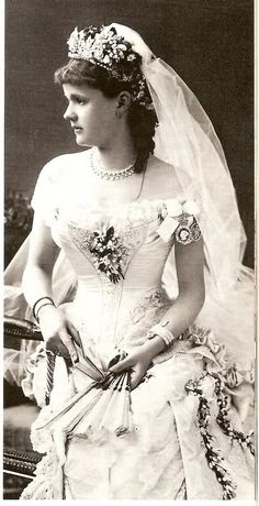 Wedding gown - Helen of Waldeck Pyrmont, 1882  Princess Helena of Waldeck and Pyrmont (Helena Frederica Augusta; later Duchess of Albany; 17 February 1861 – 1 September 1922), who became a member of the British Royal Family by marriage, was the daughter of George Victor, Prince of Waldeck and Pyrmont (regions now in Germany) and his wife Princess Helena of Nassau (also in Germany).