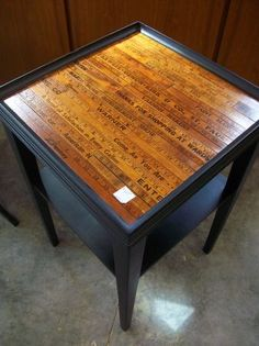 Ridiculously cute antique yardstick table!