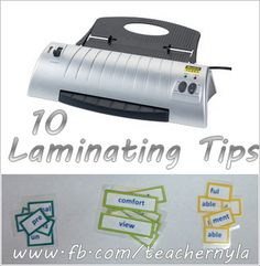 10 Tips for Laminating your Printables! #school