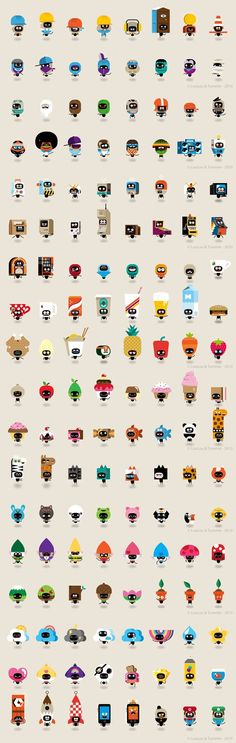 Characters Designed par LouLou and Tummie