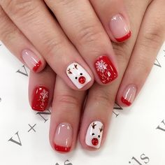 143 fantastic christmas nail art designs to spice up holiday season – page 7 Xmas Nail Art, Christmas Gel Nails, Christmas Nail Art Designs, Holiday Nails, Snowman Nail Art, Christmas Earrings, Christmas Makeup, Christmas Design, Nagellack Design