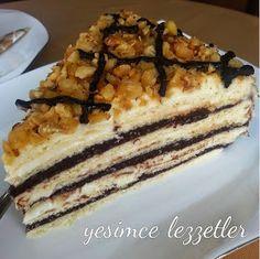 Yeşim'ce Lezzetler: AMONYAKLI PASTA Beautiful Cakes, Tiramisu, Muffin, Food And Drink, Pie, Ethnic Recipes, Desserts, Easy Cookie Recipes, Veggie Muffins