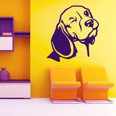 Dog Decal Beagle Eye, Vinyl Sticker Decal - Good for Walls, Cars, Ipads, Mirrors Etc