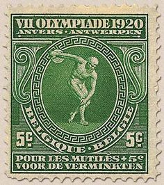 belgian stamps VIIth Olympic games at Antwerp.