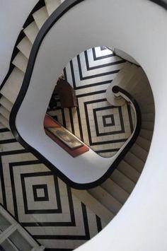 black n white tile floors