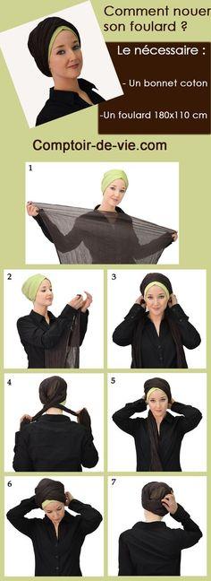 Tutoriel foulard marocco