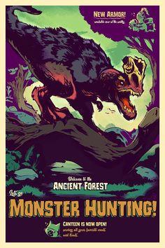 Monster Hunter Poster - Created by Gibbs Rainock
