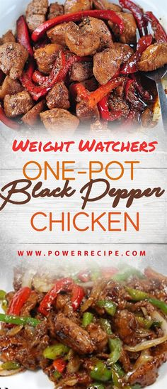 Weight Watchers One-Pot Black Pepper Chicken!!! - All about Your Power Recipes Weight Watchers Chicken, Weight Watchers Smart Points, Weight Watcher Dinners, Low Carb Recipes, Ww Recipes, Crockpot Recipes, Healthy Recipes, Cooking Recipes, Healthy Meals