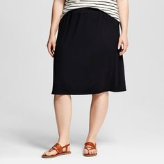 Women's Plus Size Casual Knit Skirt