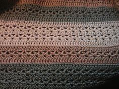 Ravelry: LoopsADaisies' V stitch striped afghan (this is the pattern to the yellow blanket from dottie angel)