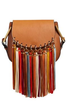 Chloe 'Small Hudson' Suede Tassels Leather Shoulder Bag