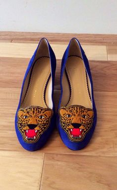 Charlotte Olympia Blue Loafer | VAUNTE