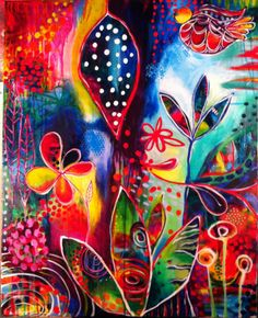 Art by Amy Zimmerman (colorful acrylic on canvas) www.facebook.com/amyzimmermanpaints