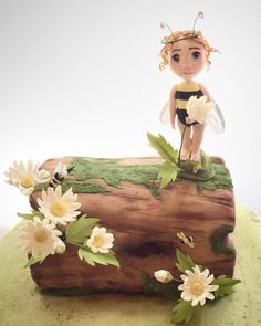 Bee fairy log cake by Pretty Special Cakes