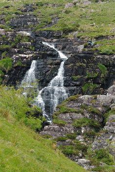 Annascaul, Ireland by agavette  Waterfall near Annascaul Lake, on the Dingle Peninsula in County Kerry, Ireland, June 2011.