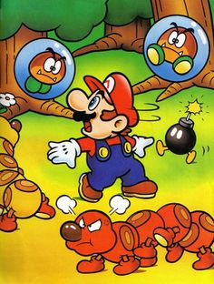 Super Mario World original art - Super Nintendo, 1990.