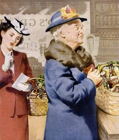 Two generations of ladies stock up on plenty of Schlitz beer during their weekly trip to the grocery store.